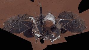insight mars rover selfie