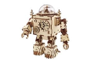 ROBOTIME 3D Robot Machinarium Craft Kit with Light and Music