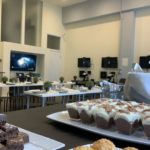 event space with snacks