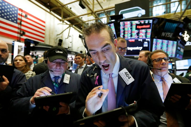 stock broker on trading floor