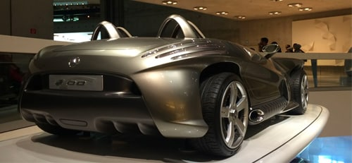 silver mercedes convertable