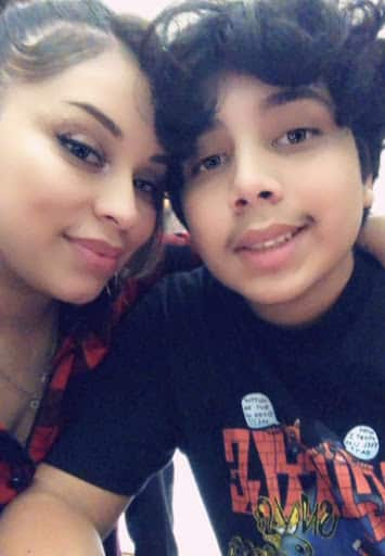 eve garcia with her son