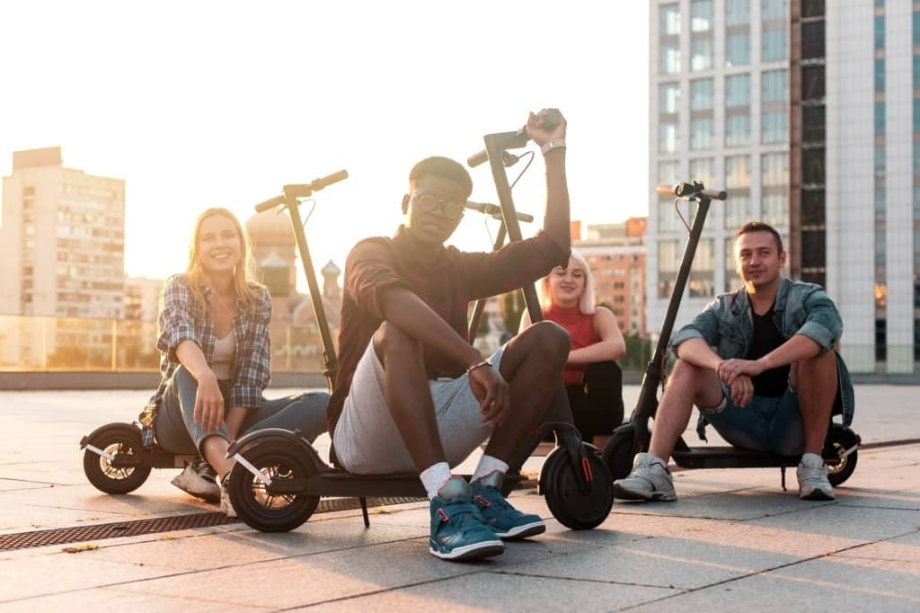 outdoor escape room on electric scooter meets SF city tour