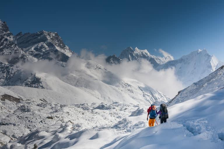 Trekking northern patagonian ice field
