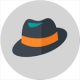 icon of a hat representing the chill and worry-free state of mind